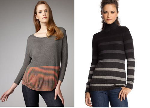 Perfect sweaters for wedge-shaped figures