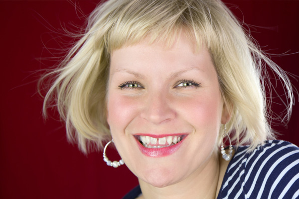 Woman with gap in teeth