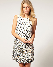 Laundry by Shelli Segal Cerulean Leopard Dress ($95, on sale)