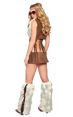 Groovy Baby hippie costume for women