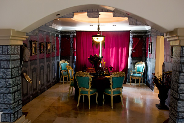 Bridget Marquardt's elaborate Halloween dining room