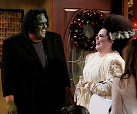 Mike and Molly do Frankenstein on halloween