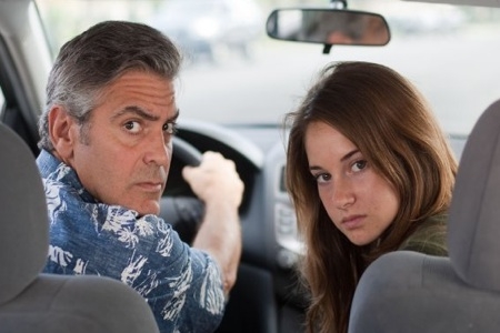 George Clooney and Shailene Woodley in The Descendants