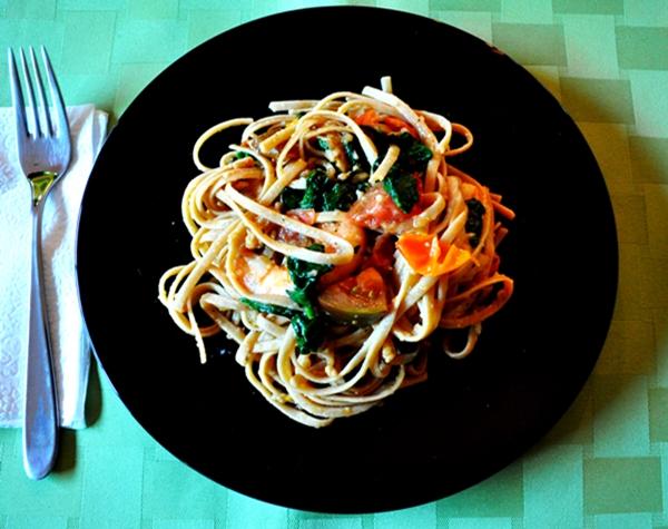 Roasted veggies make linguine new
