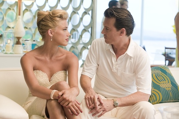 Amber and Johnny in The Rum Diary