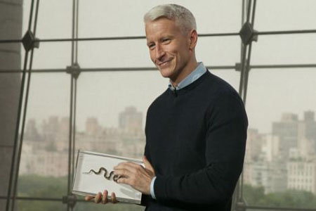 Anderson Cooper's tiny snake