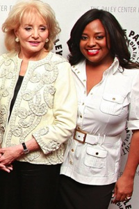 Barbara Walters and Sherri Shepherd