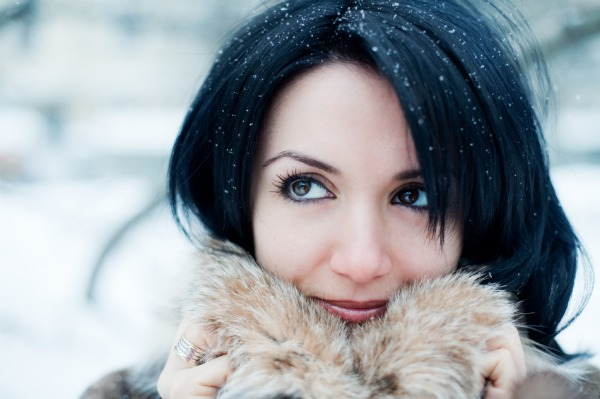 Beautiful woman - Winter skin care