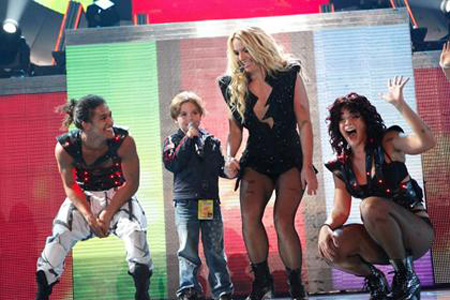 Britney Spears and Sean Preston onstage