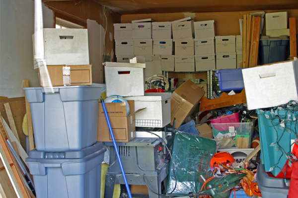 Cluttered garage