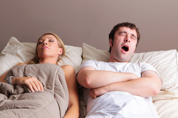 Couple in bed with no passion