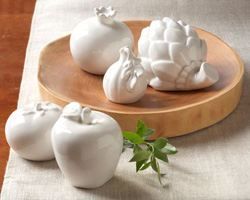 Ceramic fruit and vegetables