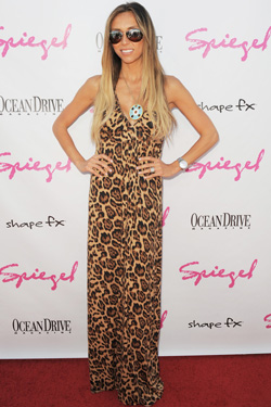 Giuliana Rancic Leopard Dress