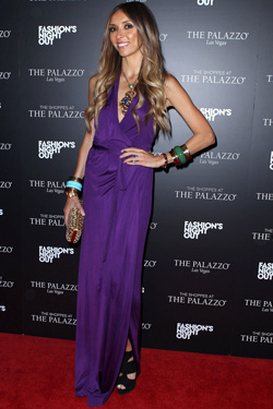 Giuliana Rancic Purple Dress