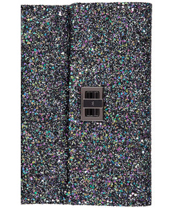 Anya Hindmarch blue glitter clutch