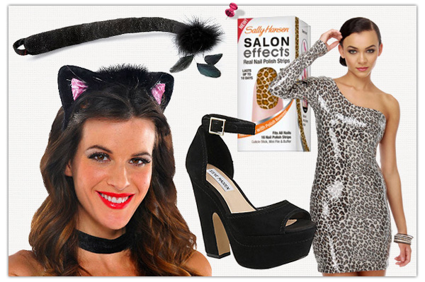 Frisky feline Halloween costume