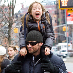 Hugh Jackman and daughter