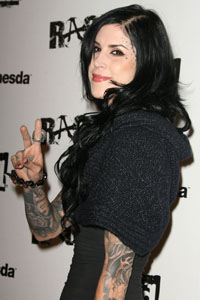 Kat Von D is recording a music album