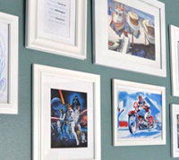Star Wars art display