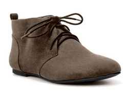 flat lace-up ankle boots