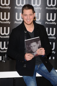 Michael Buble at his book launch for Onstage Offstage