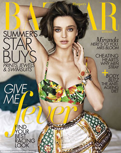 Miranda Kerr goes nude in Harper's Bazaar