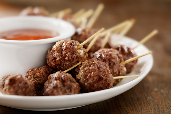Mrs. Claus' party meatballs