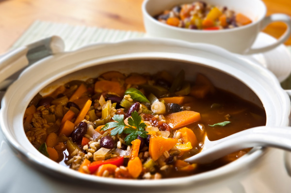 Mushroom barely carrot stew
