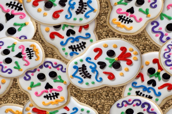 Decorated Skull Cookies Mexican Sugar Skull Cookie