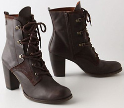 Leather lace-ups