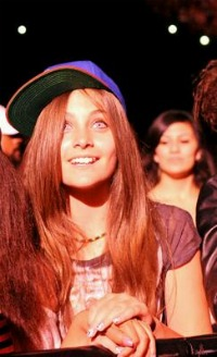 Paris spotted at Chris Brown concert