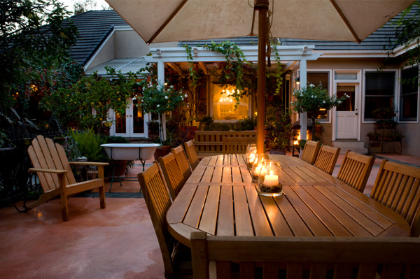 Outdoor patio for party