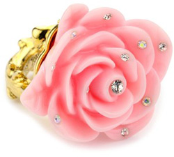 Pink flower ring