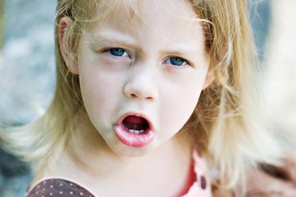 Preschooler having tantrum