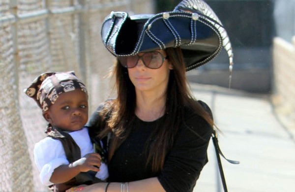 Sandra Bullock and son Louis
