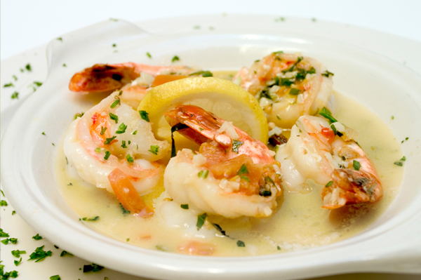 Seared shrimp with lemon beurre blanc