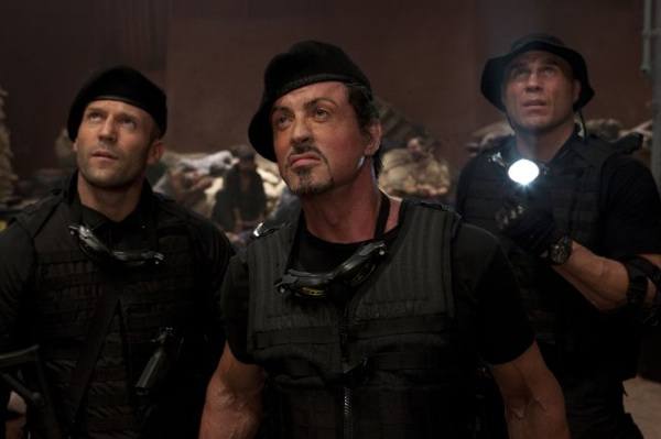 The Expendables with Sylvester Stallone, Jason Statham, Randy Couture