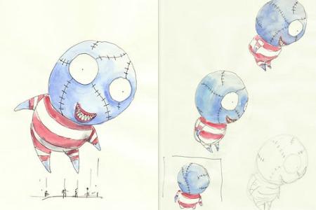 Tim Burton's balloon boy