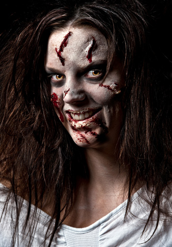 Zombie makeup for Halloween