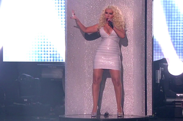 Christina Aguilera at the AMAs