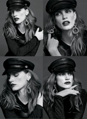 Jessica Chastain strikes several poses for ASOS