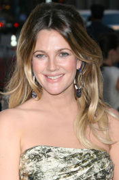 Drew Barrymore's face slimming hairstyle