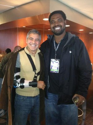 George Clooney and Jonathan Ogden