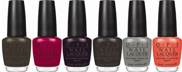 OPI fall nail colors: OPI's Touring America Collection