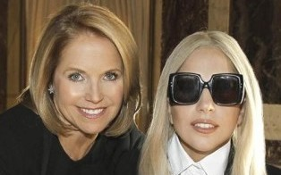 Lady Gaga talks turkey with Katie Couric