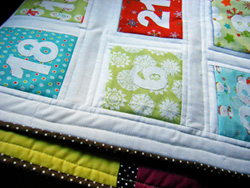 Advent calendar quilt