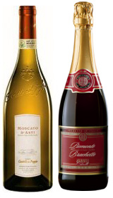 Brachetto and Moscato