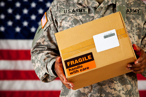 Care package for solider