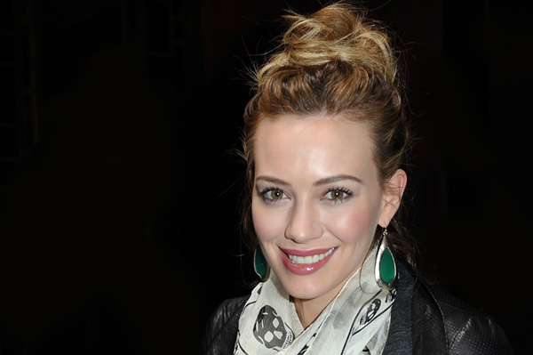 Hilary Duff with bun hairstyle