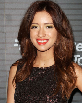 Christian Serratos with red hair